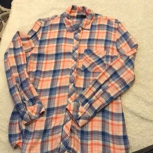 Collared plaid shirt, XS